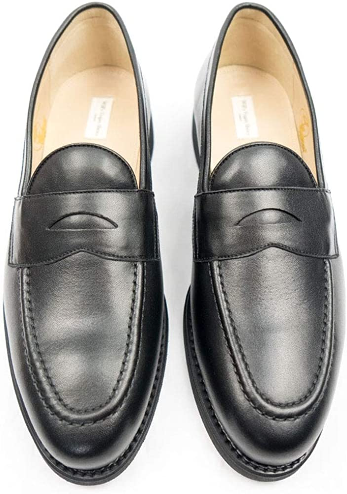 Will's Vegan Shoes Mens Goodyear Welt Loafers Black