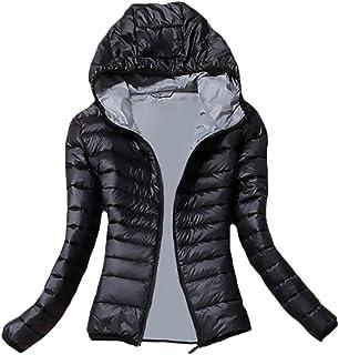 28424e12004fa2 Donna Giacca Piumino Invernale Elegante con Cappuccio Manica Lunga Chic  Slim Fit Moda Casual Neve da