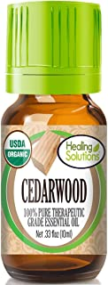 Organic Cedarwood Essential Oil (100% Pure - USDA Certified Organic) Best Therapeutic Grade Essential Oil - 10ml