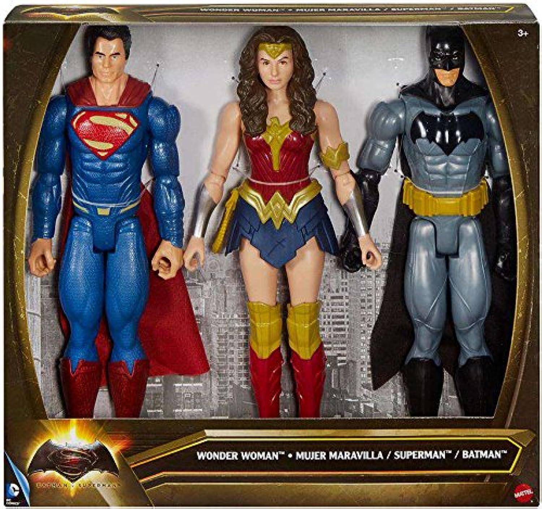 Batman v. Superman  12 inch Superman Wonder Woman Batman Action Figure Set by DC Comics
