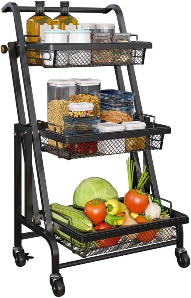 CozyBlock 3-Tier Folding Utility セール特価品 Cart Rolling NEW ARRIVAL Storage Organizer