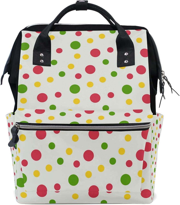 77b148ba8b89 FAJRO colorful Fresh DotsTravel Canvas Handbag School Pack Backpack ...
