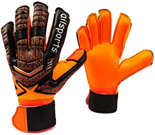 Coodoo Goalie Goalkeeper Gloves Pro Fingersave,Strong Grip for Toughest Saves, Protection to Prevent Injuries, Fit Match Training,Adult,Youth,Kids Size 5-11,30 Days 100% Warranty