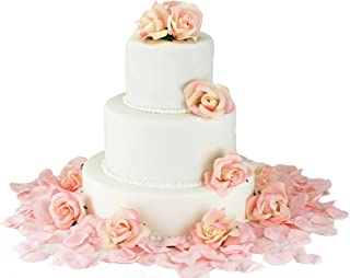 Pink Silk Rose Cake Flowers - Reception Decoration