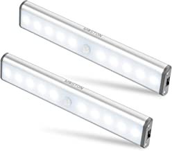 MOSTON 10 LED magnetische bewegingssensor kledingkast kastverlichting, automatisch aan/uit onder kastkastverlichting, opla...