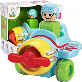 Tomy Yellow Toomies Push And Go Plane - 2 Years And Above, Multi Color For 3 Years & Above