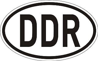 Sticker Länder Kennzeichen DDR I 14,5 x 9 cm I Auto Aufkleber wetterfest I Artikel Utensilien als Geschenk Idee I kfz_031