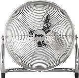 Deko B141 Leistungsstarker Boden-Ventilator in Chrom, 120 W