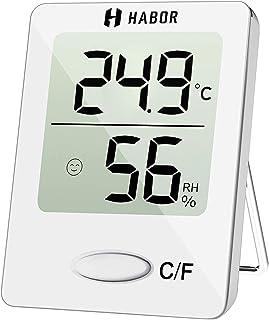 Habor Mini Thermomètre Hygromètre Intérieur Numérique à Haute Précision, Moniteur..