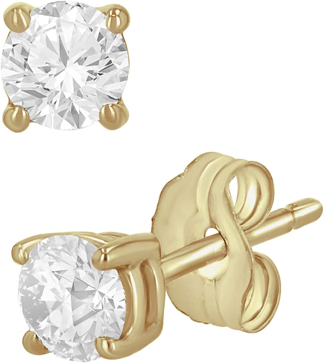 0.10-1 Carat Indianapolis Mall Total Weight Round Stud for Diamond Earrings Women Large discharge sale