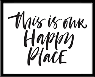 Cuadro Decorativo This is our happy place favorite place Favorito Juntos You and Me Tu y Yo I Love You Te amo Quote Frase ...