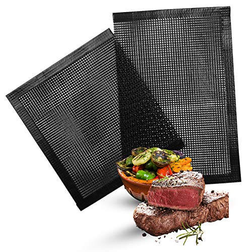 SEGRIL Large Mesh Grill Bags (2 Pack) 15