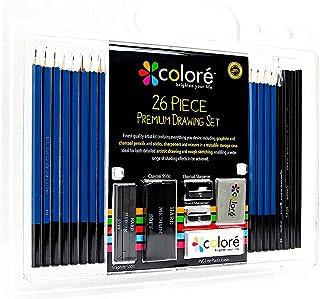 26Pcs/Set Sketch & Drawing Pencils Wood Pencil Art Sketching Painting Supplies Drawing Set