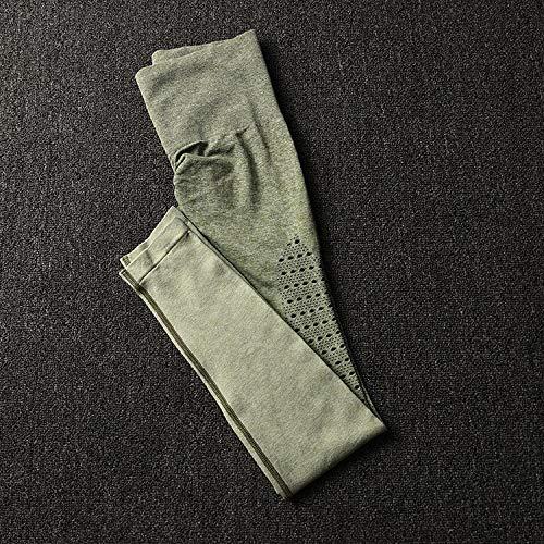 Yoga legging voor dames hoog,Naadloze fitnesslegging, yogabroek met hoge taille-Legergroene legging_M,Harem hippiebroek voor dames