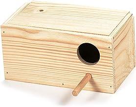 Arquivet Nido de Madera para pájaros - Casa para periquitos - Caja para pájaros - Nido para pájaros de jardín - Nido cría ...
