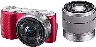 ソニー SONY ミラーレス一眼 α NEX-C3 ダブルレンズキット E 16mm F2.8+E 18-55mm F3.5-5.6 OSS付属 ピンク NEX-C3D/P