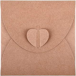 ewtshop® 50 x Fundas de CD sobres de papel kraft para envolver regalos, para guardar fotos y álbumes de recortes