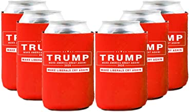 Neoprene Beer Can Coozies- Trump 2020 Can cooler,Trump Keep American Great Coozies - Set of 6…