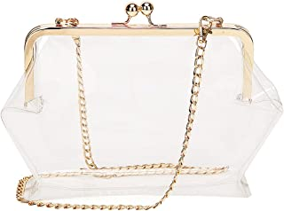 Sherry Clear Transparent Shoulder Bag Women Fashion Clip Hasp Handbags Chain Crossbody Purse
