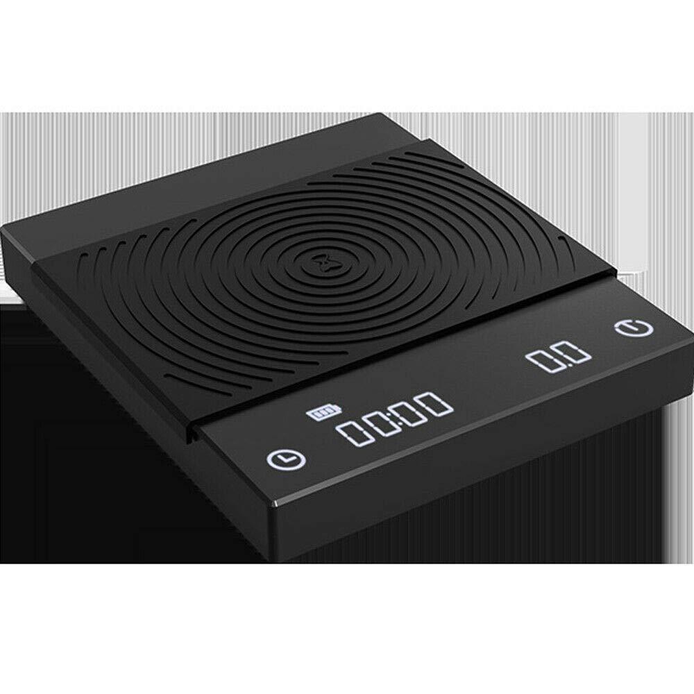 Báscula digital de café con 3 modos, báscula electrónica, báscula de cocina de precisión, báscula de café expreso, carga USB para barista con temporizador y pantalla LED, 2 kg/0,5 g