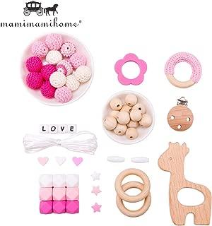 Tvvudwxx Schnullerkette Holz Perlen Baby Schnullerketten DIY Zubeh/ör F/ür DIY Neugeboren Baby Schnuller Beissring