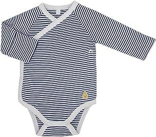 Baby Side Snap Kimono Bodysuit, 100% GOTS Organic Certified Sleepsuit, 100% Cotton Unisex Long Sleeve Gown, Teddley's Sign...