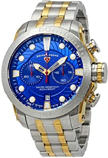 Swiss Legend Seagate Chronograph Blue Dial Watch SL-10624SM-SG-33