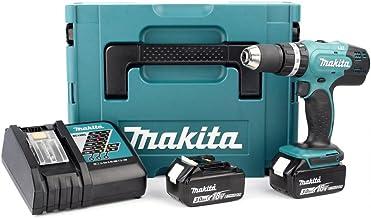 Makita DHP453RFJ Taladro Combinado 2x18V 3Ah Li-ion + maletin Makpac