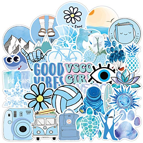 50Pcs Be Happy Motivational Decal Stickers for Students,Teachers and Company Employees,Waterproof Durable Trendy Vinyl Laptop Decal Stickers Pack for Water Bottles, Computer, Travel Case