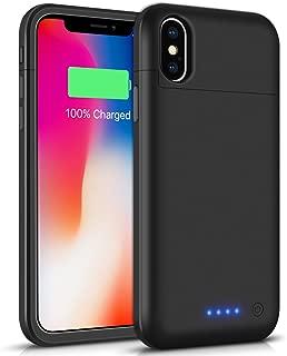 iPhone X/XS/10 対応 バッテリーケース LCLEBM 5200mAh バッテリー内蔵ケース 急速充電ケース ケース型バッテリー 大容量 180%バッテリー容量追加 超軽量 薄型 (ブラック)