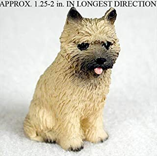 Ky & Co YesKela Cairn Terrier Mini Hand Painted Figurine Red