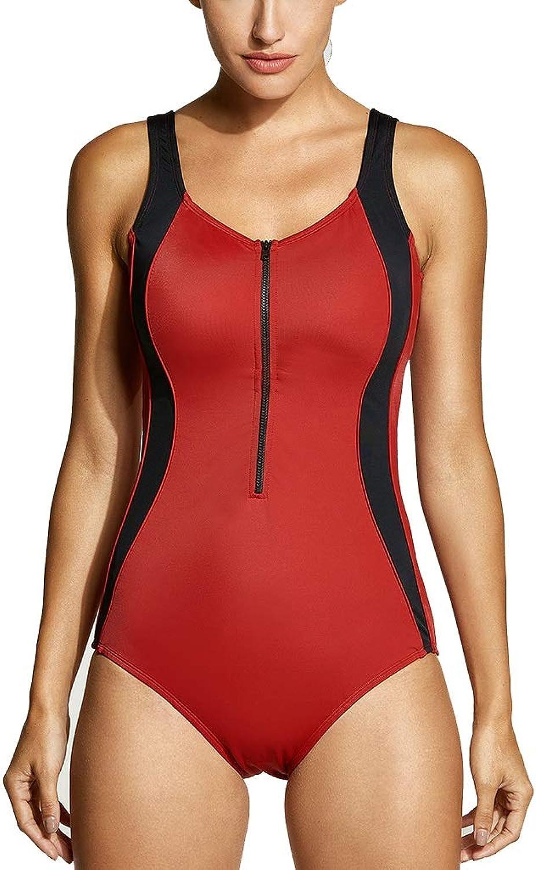Yijiayu Badeanzug Dreieck Damen einteiliger Badeanzug Neoprenanzug groe Gre heie Quelle rückenfrei Strandbadebekleidung groe Brust war dünn (Farbe   rot, Größe   XL)