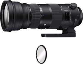 Sigma 150-600mm f/5-6.3 DG OS HSM Sports Lens for Canon EF + UV Protective Filter Combo