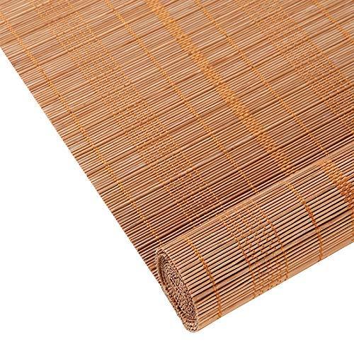 Giow Persianas enrollables de bambú, persianas Opacas con Filtro de luz, persianas venecianas con decoración de protección Solar, para pórtico/salón de té/Divisor, Cualquier tamaño de 20