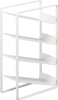山崎実業(Yamazaki) ラップスタンド 4段 ホワイト 約W9.5XD18XH29.5cm プレート ラップホルダー スリム設計 出し入れ簡単 4997