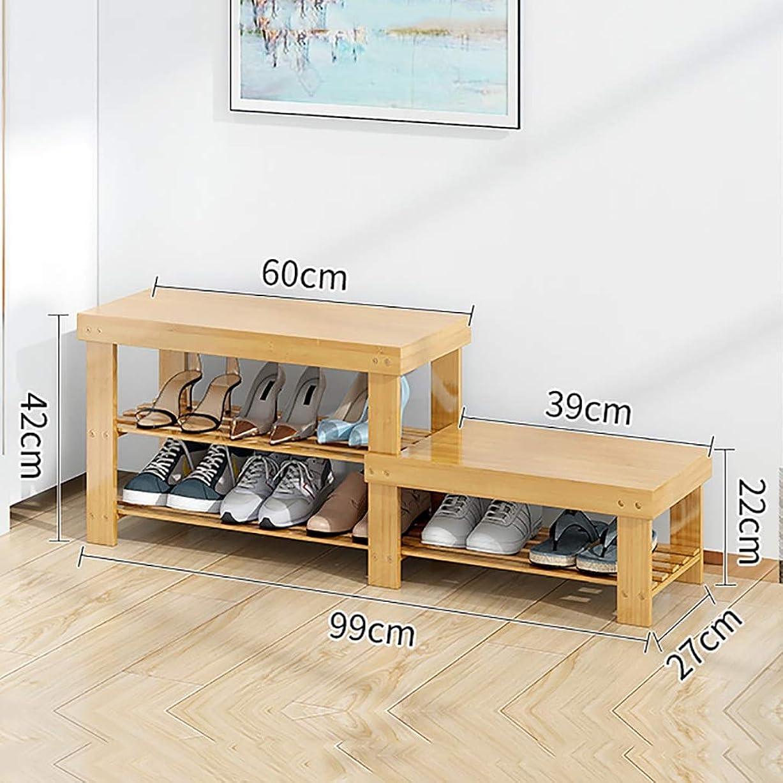 意識雪のセンサー靴ベンチ-木製靴収納ラック-玄関玄関靴ラックオーガナイザー (Size : 99*27*42cm)
