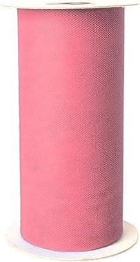 Falk Fabrics Apparel Grade Tulle Spool Paris Pink, Light Garnet