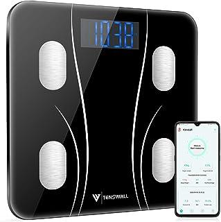 مقیاس وزن بدن ، مقیاس حمام دیجیتال ، تجزیه و تحلیل سلامت مانیتور ترکیب بدن با برنامه گوشی های هوشمند برای وزن بدن ، BMI ، آب ، BMR ، توده عضلانی ، چربی بدن ، مقیاس سلامت تناسب اندام