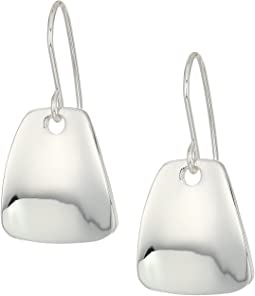 Wedge Drop Silver Earrings