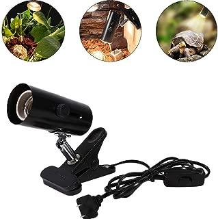 Smandy Lámparas de Calor para terrarios, Cabeza Universal de Metal, luz UV de Calor, cerámica, con Clip de lámpara para Faro de calefacción de Reptiles