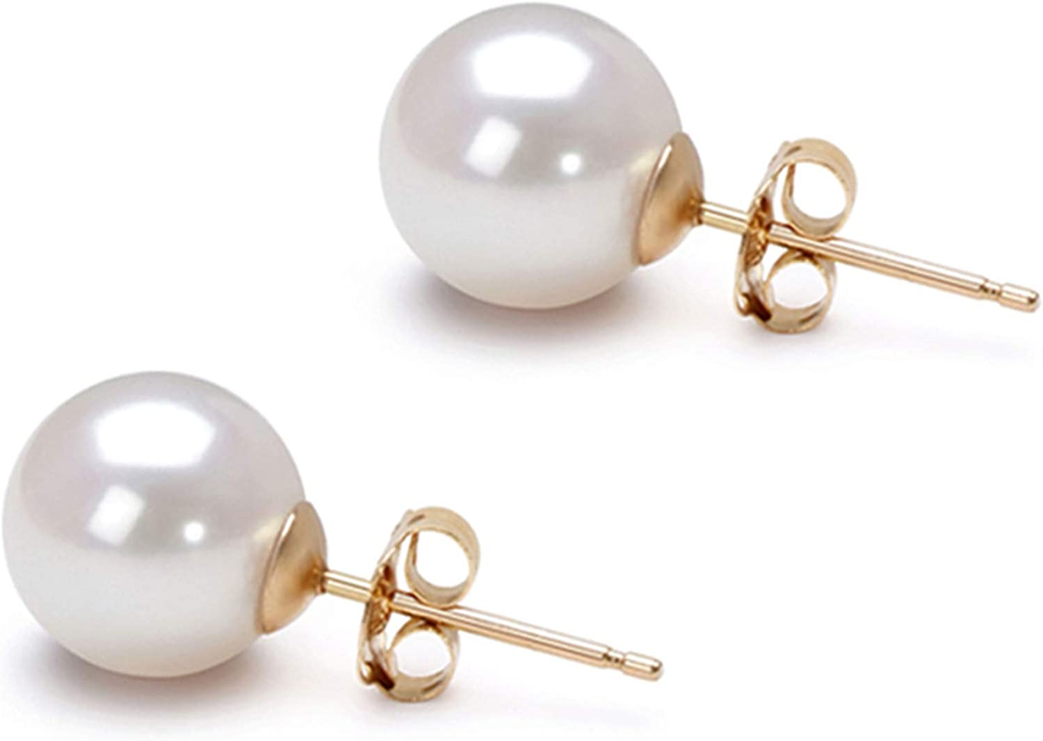 In stock Akoya Cultured Pearl Earrings Stud Pea 5-10mm White Direct sale of manufacturer AAA