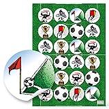 8 kleine Mini Deko-Fußbälle 2 cm schwarz weiß Klebepunkt WM EM Tisch-Deko Tischschmuck Miniatur Fußball-Club Bayern Europameisterschaft Weltmeisterschaft Streudeko Tischstreu - 6