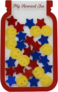 The Rosette Imprint Reward Jar for Kids with Stars and Smileys