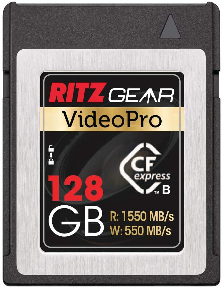 VideoPro CFExpress Type B 128GB Card (1550/550 R/W), Pairs with Compatible Nikon, Panasonic & Canon DSLR Cameras. (Some Cameras Need a firmware Update to be Compatible W CFexpress)