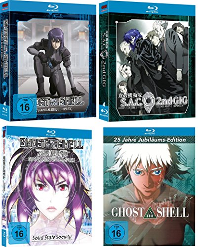 Ghost In The Shell SAC 1 + 2 Box + Stand Alone Complex: Solid State Society (Mediabook) + Ghost in the Shell [25 Jahre Jubiläums-Edition] (Mediabook) BUNDLE