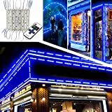 EAGWELL Upgraded Storefront Lights , 40 FT 80 Pieces Blue Store Window LED Lights 4 Sets 5054 SMD LED Light Module Storefront Window Strip Light for Business Store Light Advertising Signs