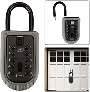 JUN-L Indoor/Outdoor Wall Mounted Push Button 10-Digital Combination Key Safe Storage Security Lock for Home Garage School Office Spare Keys