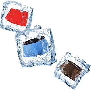 OhBuy Ultra Thin Ice Silk Mens Under-wear Stretch Microfiber Pouch Trunks Soft 3 Pack