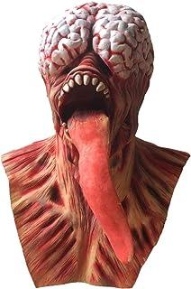 WYJSS Máscara de Terror de Halloween Alien Head Cover Ghost Tongue Zombie Brain Zombie Demon Mask,Clear-OneSize