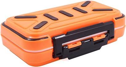 Acekit Waterproof Fishing Tackle Box for Lures Lake Bait Casting Fishing 4 DIY Storage Trays for Big Lure-Orange